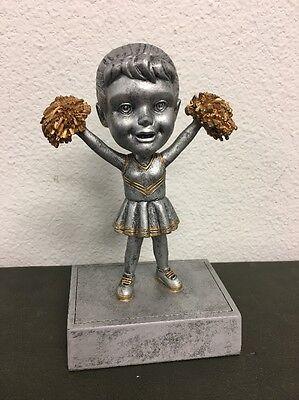 Female Cheerleader Bobblehead Resin Trophy FREE ENGRAVING