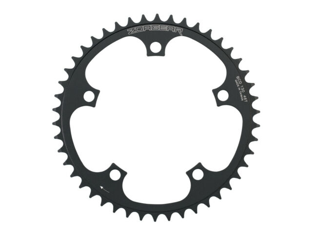 """46T Fixed Gear Chainring BLACK 130mm BCD Track Single Speed 1//8/"""""""