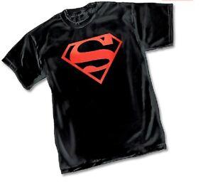 DC-SUPERBOY-SYMBOL-Logo-BLACK-ADULT-Licensed-T-Shirt-S-3XL