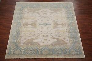 9X9-Square-Oushak-Area-Rug-Hand-Knotted-amp-Veg-Dyed-Wool-Oriental-Carpet-9-x-9-2