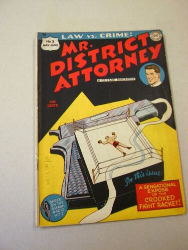 """MR. DISTRICT ATTORNEY"" #3 548 VG! SCARCE EARLY ISSUE!"