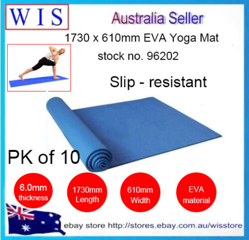 10//PK 6mm EVA Yoga Mat Non-slip Pad for Exercise Fitness Pad Lose Weight-96202