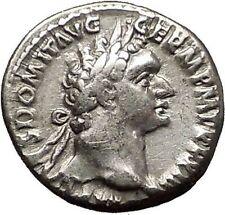 DOMITIAN son of Vespasian 93AD Silver Ancient Roman Coin Athena Minerva i57516
