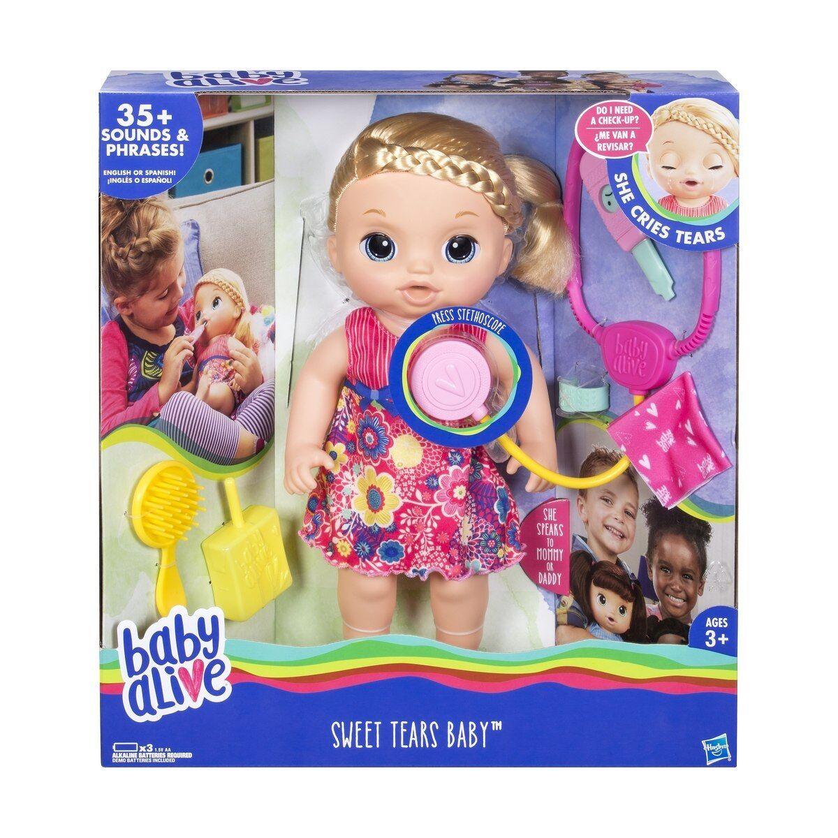 Baby Alive Sweet Tears Baby Nursery Sounds Tears Pretend Christmas Birthday Gift