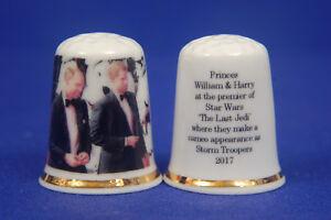 Prinz William & Harry Im Erster Von Star Wars 'the Last Jedi 'fingerhut B/119 Haushalt Fingerhüte