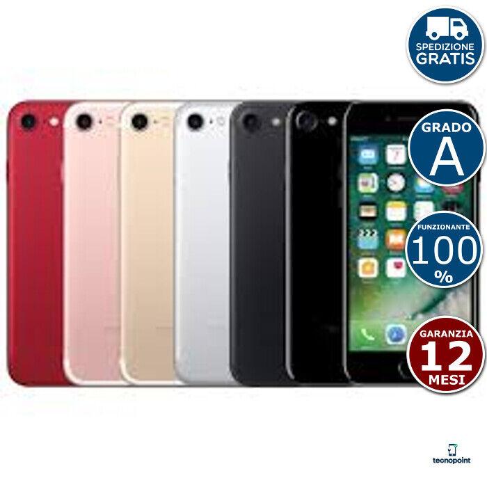 iPhone: APPLE IPHONE 7 + BOX + ACC. + VETRO E COVER + SPEDIZIONE GRADO A