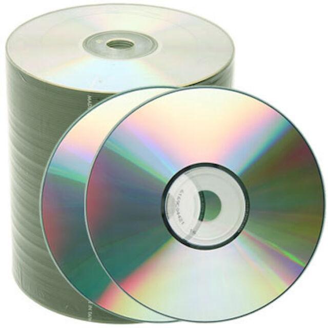 1000 pcs Generic 52X Shiny Silver Top Blank CD-R CDR Disc Media 80Min 700MB