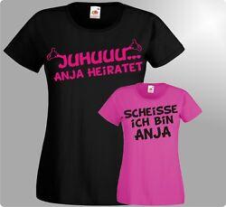 Jga T-Shirt Damen Juhu Junggesellinnenabschied Party Trauzeugin Braut günstig