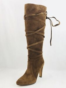 6a6f58ec774 Vince Camuto Millay Women Round Toe Suede Brown Knee High Boot Size ...