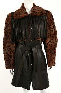 a937e7b415a9 Image is loading YVES-SAINT-LAURENT-Vintage-Leopard-Print-Sheared-Fur-