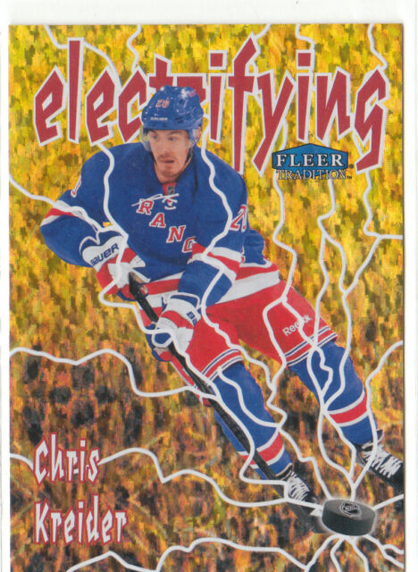 12/13  2012-13 Fleer Retro Tradition Electrifying Chris Kreider #8 Rangers SP