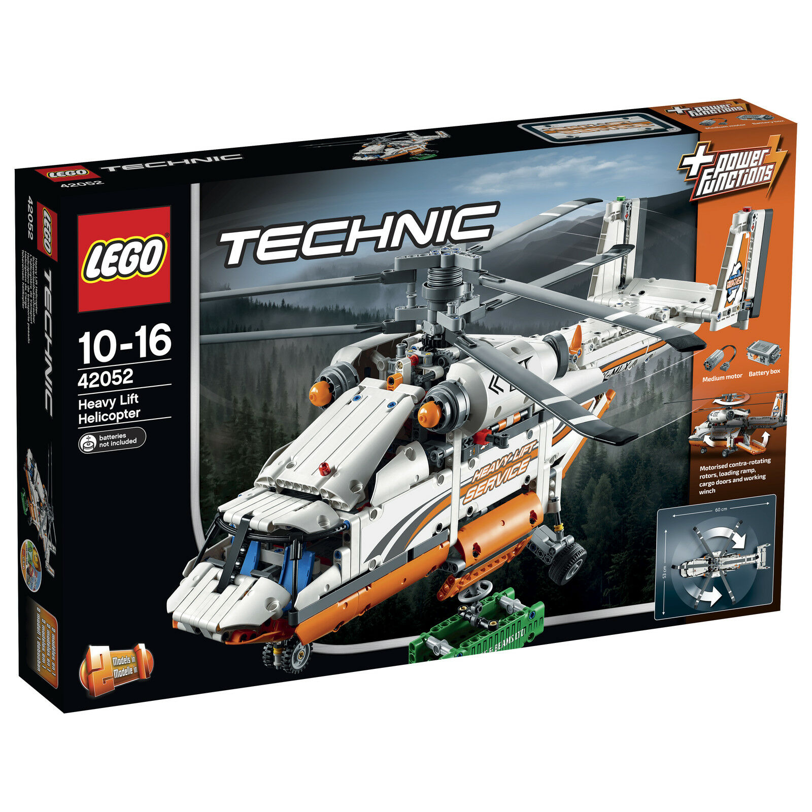 LEGO® Technic 42052 Schwerlasthubschrauber_ Heavy Lift Helicopter / Tandem Rotor