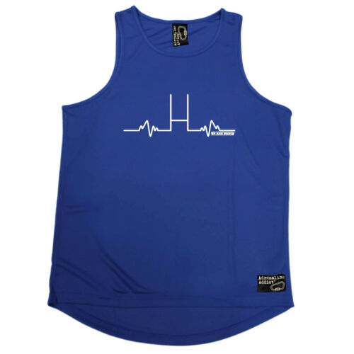 Rugby Vest Funny Mens Sports Performance Singlet Pulse Rugby