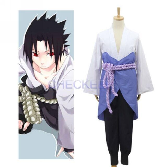 Buy Naruto Shippuden Uchiha Sasuke Summer Kimono Anime Cosplay