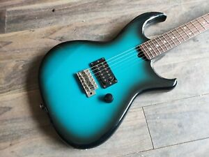 1982-Aria-Pro-II-Inazuma-I-Black-Blue-Sunburst-MIJ-Made-in-Japan