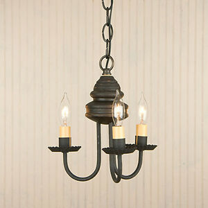 Image Is Loading Bellview Colonial Black Americana Woodspun Country Chandelier