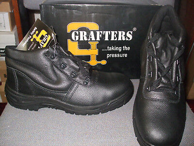 Grafters Chukka Safety Work Boots Leather Steel Toe Cap /& Midsole Size 3-13