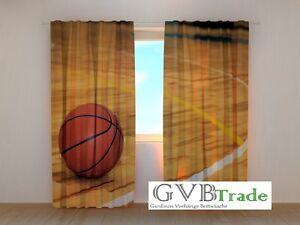 "Fotogardine ""basketball"" Fotovorhang Vorhang Gardinen Motiv 3d Qualität Auf Maß Home & Garden"