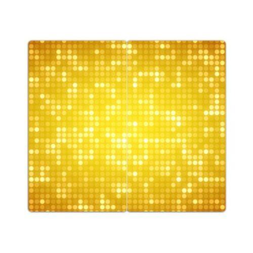 """DEKOGLAS Herdabdeckplatten /""""Muster/"""" 60x52 Glas Ceranfeld-Abdeckung Spritzschutz"""