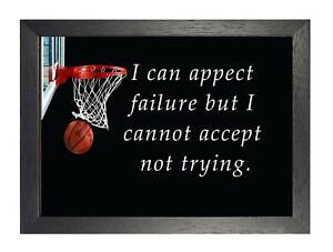 4 Basketball Motivation Inspiration Sport Quote Poster Passion Photo