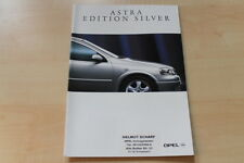 66079) Opel Astra Edition Silver Prospekt 09/1998