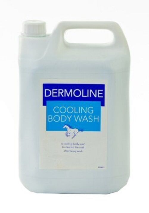 Dermoline Cooling Body Wash For Horses 500ml or 5 litre for use after exersice