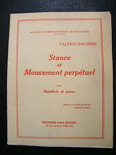 Partition Stance et mouvement perpétuel pour Hautbois Soudère Music Sheet