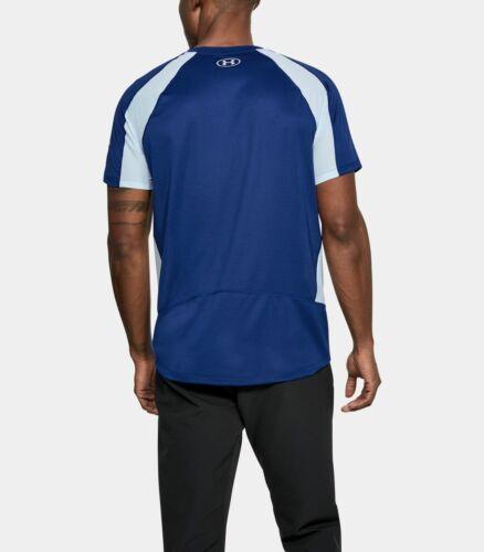 Under Armou HexDelta Men's Running Short Sleeve Shirt 1298831-574 Large NWT $55