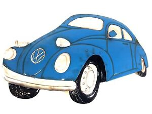 Image is loading New-Contemporary-Metal-Wall-Art-Decor-Sculpture-Blue-  sc 1 st  eBay & New - Contemporary Metal Wall Art Decor Sculpture - Blue VW Beetle ...