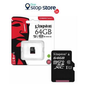 Kingston-64GB-clase-10-para-Samsung-Galaxy-2016-J3-J5-J5-Prime-J7-Galaxy-A3-A5-A7