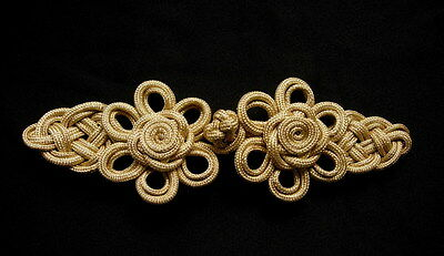 MR190 Gold Metallic Cord Chinese Rose Fastener Frog Closure Knot