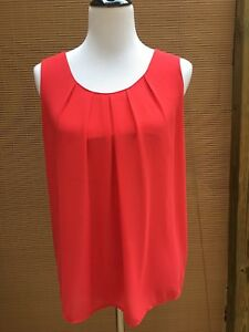 Rose Olive Women Sleeveless Blouse Top Size M Coral Ebay