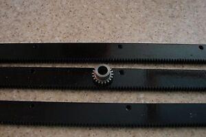 CNC-Stepper-Motor-Mech-Rack-amp-Gear-72-034-Rack-3x24-034-pcs-1-2-034-20T-Pinion-Gear