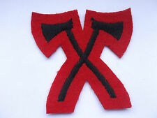 trained pioneer  black on  red  crossed axes   army specialist large arm patch