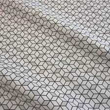 Stoff Meterware Baumwolle Cube Würfel weiß schwarz Grafik Trend 2016 Retro