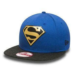 Cappellino-New-Era-cap-Superman-9-fifty-S-M-snapback-regolabile-blu-logo-weld