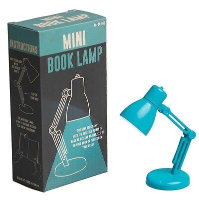 dotcomgiftshop MINI BOOK READING LED LIGHT LAMP TURQUOISE