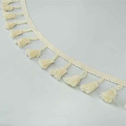 Cotton Fringe Tassel Trims Braid Lace Ribbon Sewing Curtain Garment 1.77/'/' Width
