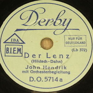 JOHN-HENDRIK-034-Der-Lenz-amp-Serenata-034-Derby-78rpm-20cm