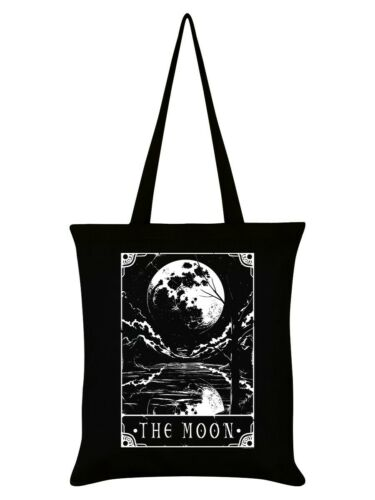 Deadly Tarot Tote Bag The Moon Black 38x42cm