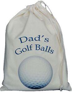DAD-039-S-GOLF-BALL-BAG-SMALL-NATURAL-COTTON-DRAWSTRING-BAG-Dad-039-s-Golf-Balls