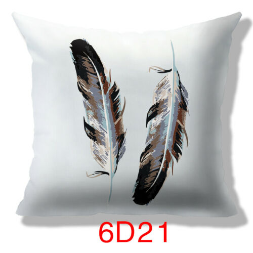 24 Style Optional Feather Design Sofa Waist Cushion Cover Pillow Case Home Decor