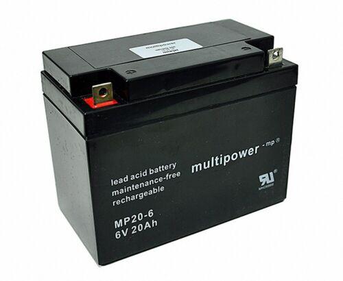 CTM CT20-6 Multipower MP20-6 AGM 20Ah 6V ersetzt LONG WP20-6