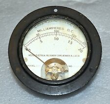 Weston Electrical Model 301 Panel Meter Dc Milliamperes 0 20 0 200 Ma Vintage