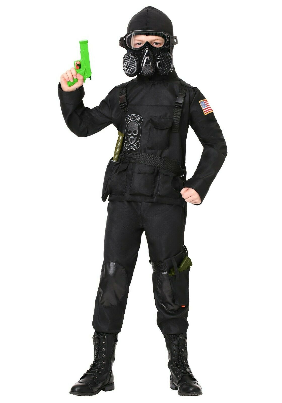Special Forces Military FBI Seal Team Army Soldier Book Week Boys Costume
