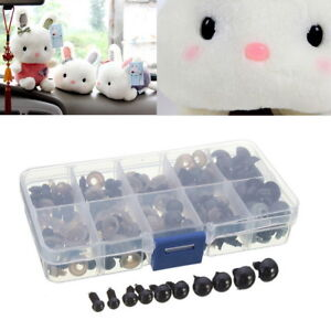 100Pcs 6-12mm Safety Eyes Toy For Teddy Bear Doll Animal Making Craft DIY Screws 965671180560