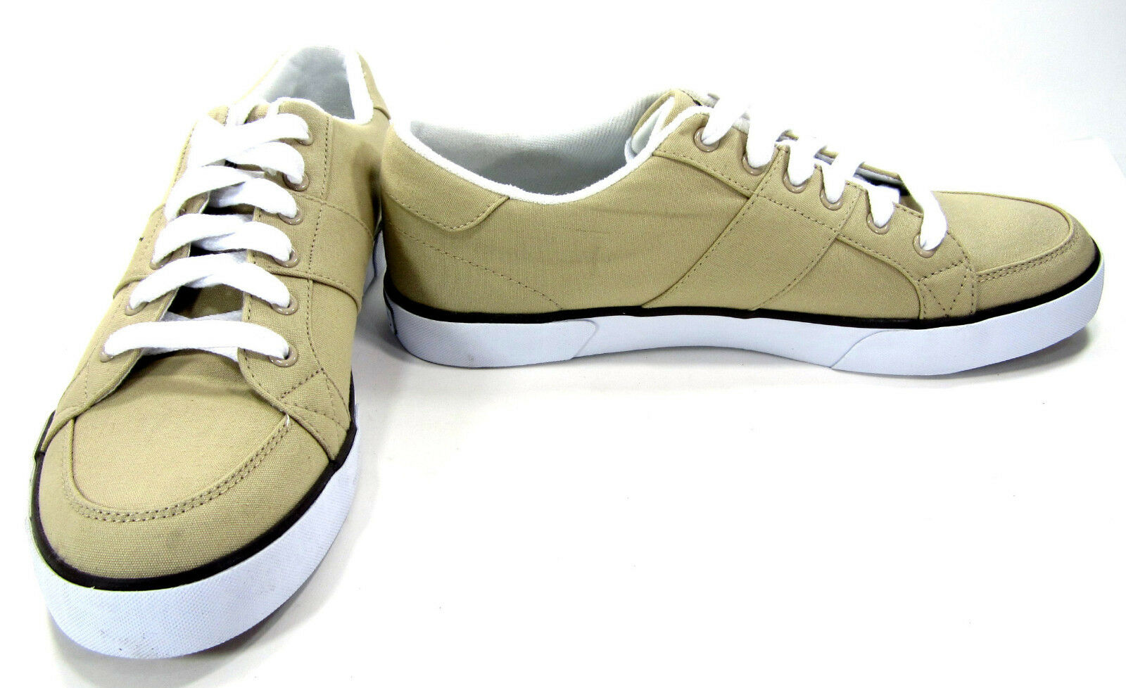 Polo Ralph Lauren shoes Harold Canvas Khaki Tan Sneakers Size 12