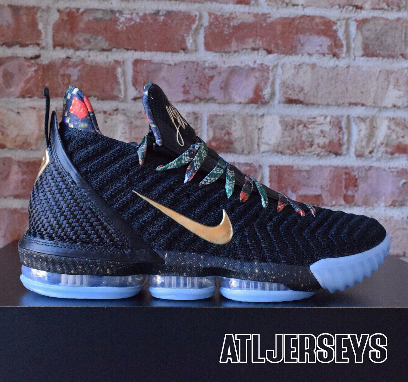 Nike Lebron XVI 16 KC Watch the Throne WTT Black gold CI1518-001 Size