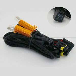 Xenon HID Conversion Kit Relay Wiring Harness H1 H8 H9 H11 9005 9006 9140 9145