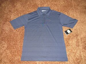 NIKE DRI-FIT GOLF POLO SHIRT NAVY BLUE THIN STRIPE MENS SMALL NWT ... f4b2dfe38